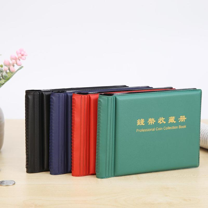 10 Pages 60 Grids Coins Collection Book Good Imitation Leather Pressing Surface Photo Album Decor PVC Collect Holder image