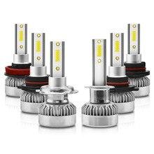 Car LED Lighting 1 Pair H1 H7 H11 9005 9006 9012 CSP Fog Headlight Bulb 110W 20000LM 6000K White Auto Head Lamp