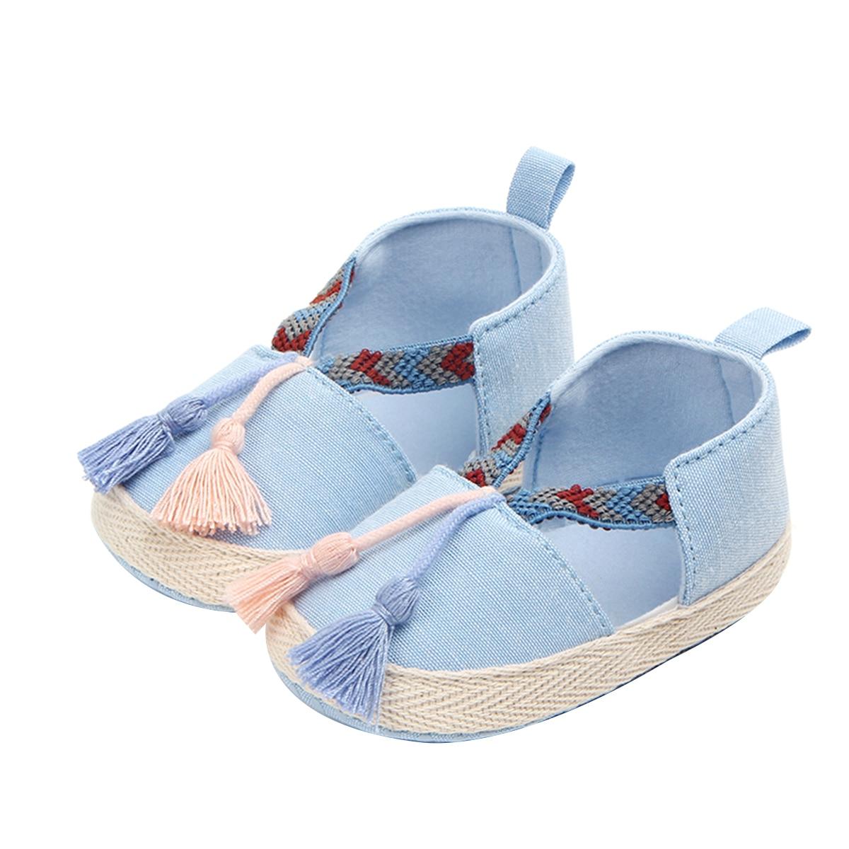 Flats Dress-Shoes Newborn Infant Baby-Girls Princess Prewalker Tassels Anti-Slip Soft-Sole
