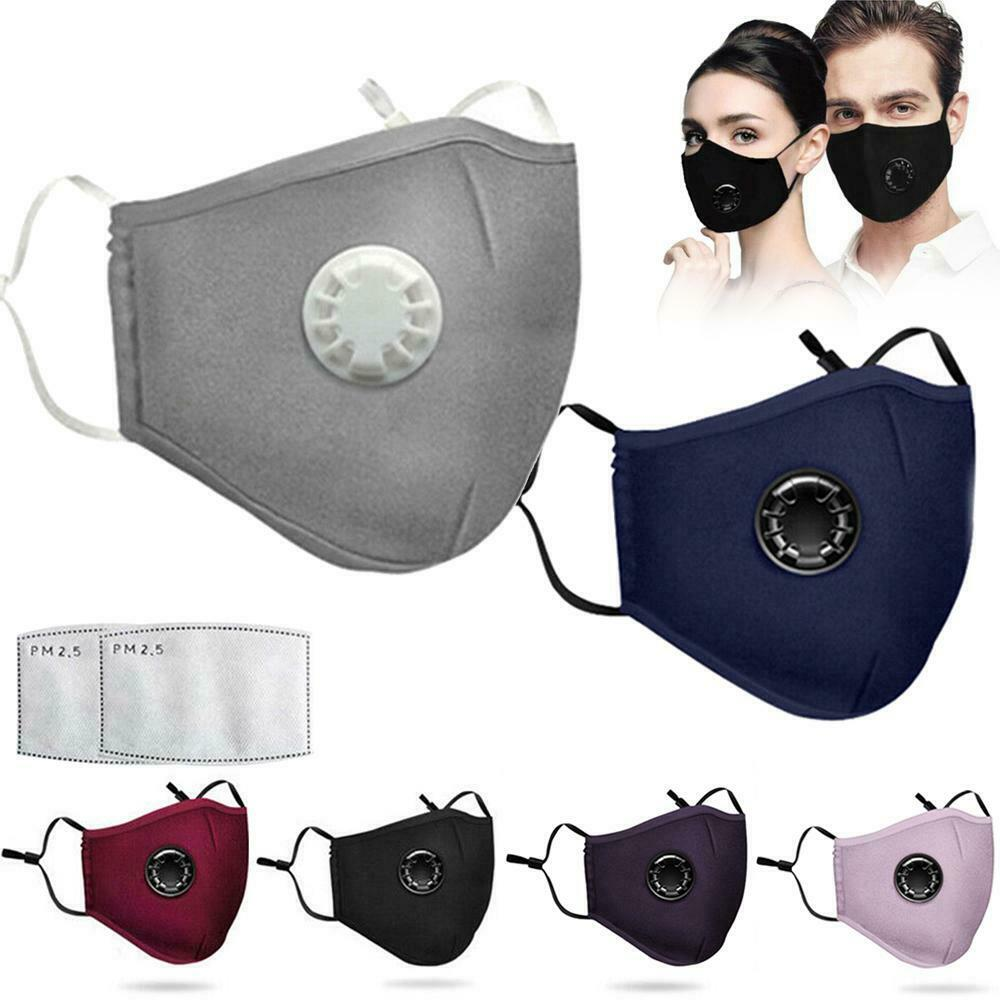 Antiviral Outdoor Sport Face Mask With Filter Activated Carbon PM 2.5 Anti-Pollution Running Cycling Mask With 2 Filters