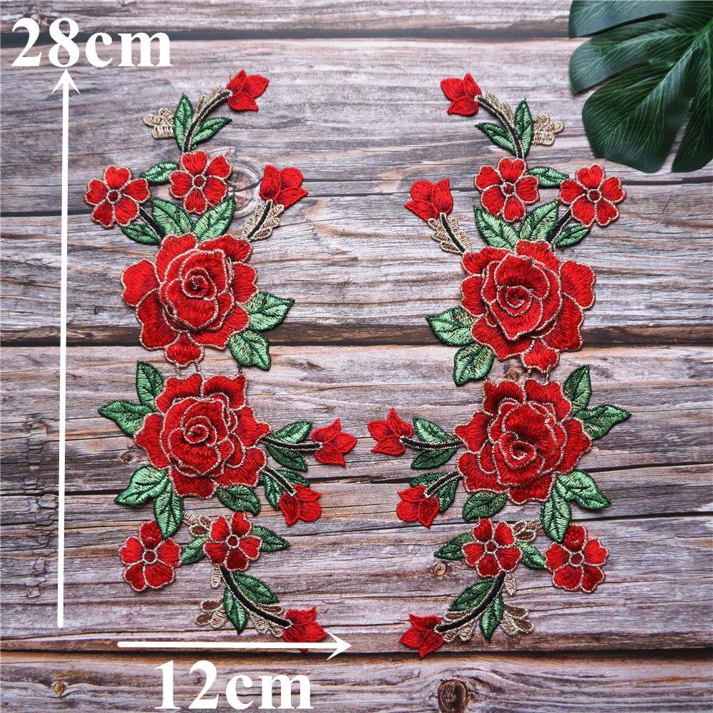 8 Rojo cose en Flores Nuevo en el paquete