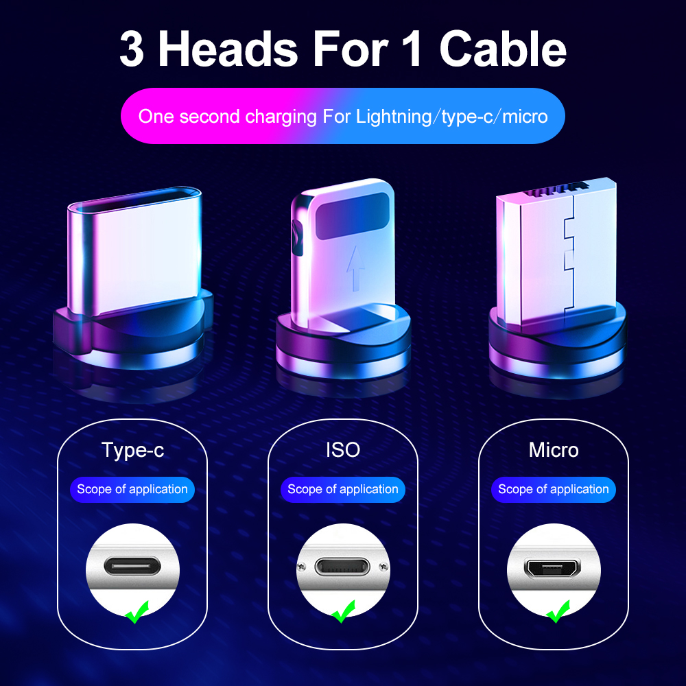 Marjay Magnetic Micro USB Cable For iPhone Samsung Android Fast Charging Magnet Charger USB Type C Cable Mobile Phone Cord Wire 4