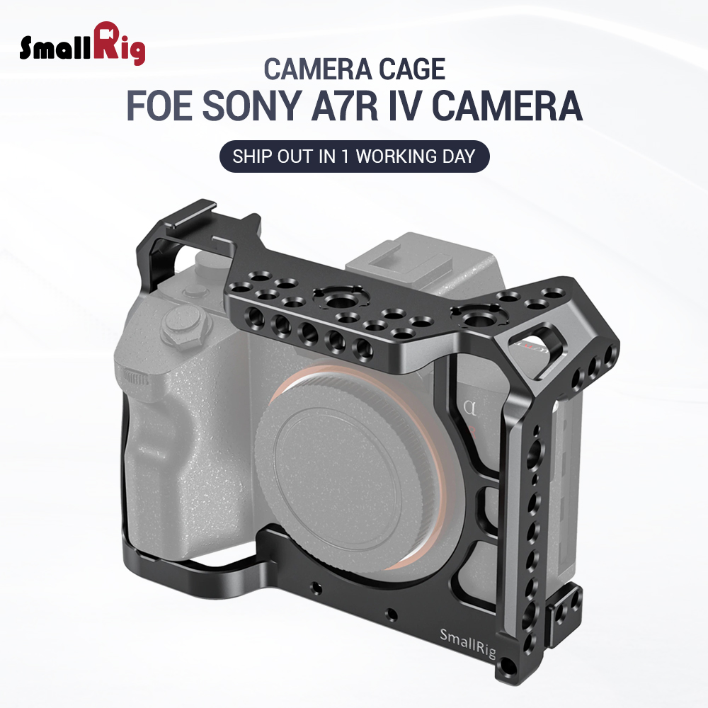 SmallRig A7r4 A7R IV Camer Cage For Sony A7R Mark IV Camera W/ 1/4 3/8 Thread Hole Fr Top Handle Microphone Flash Light DIY 2416