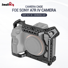 SmallRig a7r4 A7R IV Camer Cage for Sony A7R Mark IV Camera W/ 1/4 3/8 Thread Hole fr Top handle Microphone Flash Light DIY 2416 smallrig dual camera cage for olympus e m1 mark ii with 1 4 3 8 threads holes can attach with top handle shoulder rig 2086