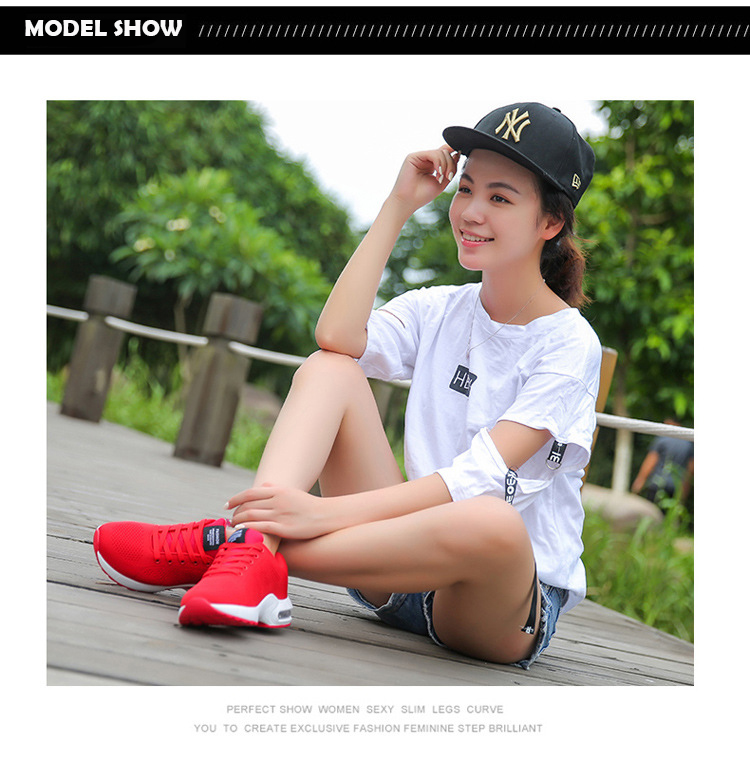KAMUCC/Новинка; женские кроссовки на платформе; дышащая женская повседневная обувь; модная женская обувь, увеличивающая рост; большие размеры 35-42
