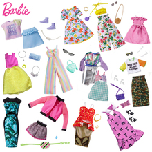 Original Barbie Accessories Clothes Fashion Outfit for 30cm Dolls Barbie Clothes Toys for Children Girls Doll Accessories Dress
