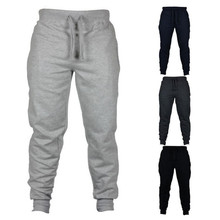 Mens Stacked Casual Pants Fitness Men Sportswear Tracksuit Bottoms Skinny Sweatpants Trousers Black Gyms Jogger Track Pants