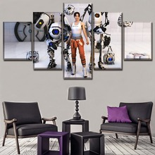 Poster 5 Pieces Top-Rated Canvas Print Chell Game Portal Wheatley Modular Pictures Wall Art Home Decorative Painting For Bedroom босоножки portal portal po018awehqt1