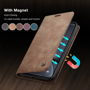 CaseMe Retro Leather Purse Case For iPhone 11 Pro X XR XS Max Magnetic Wallet Card Cover For iPhone SE 2020 8 7 6 6S Plus 5 5S(China)
