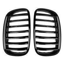 Автомобильный глянец Черный передний бампер впускная решетка