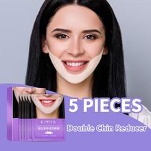 ILISYA V Line 페이스 마스크 퍼밍 V Shape 페이셜 마스크 리프트 Tightening the Skin 모이스춰 라이징 트리트먼트 for Double Chin