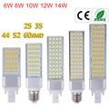 Светодиодная лампочка G24, 6 Вт, 8 Вт, 10 Вт, 12 Вт, 14 Вт, E27, лампочка для освещения, светодиодная лампочка G24 с горизонтальным разъемом, точесветиль...