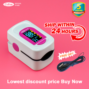 Cofoe Oximeter Saturation Heart Rate Monitoring Finger Clip Pulse Detection Fingertip Home Detector with OLED Display daily carry wearable wrist pulse oximeter fingertip oled display with usb cable pc software healthcare monitor cms50f