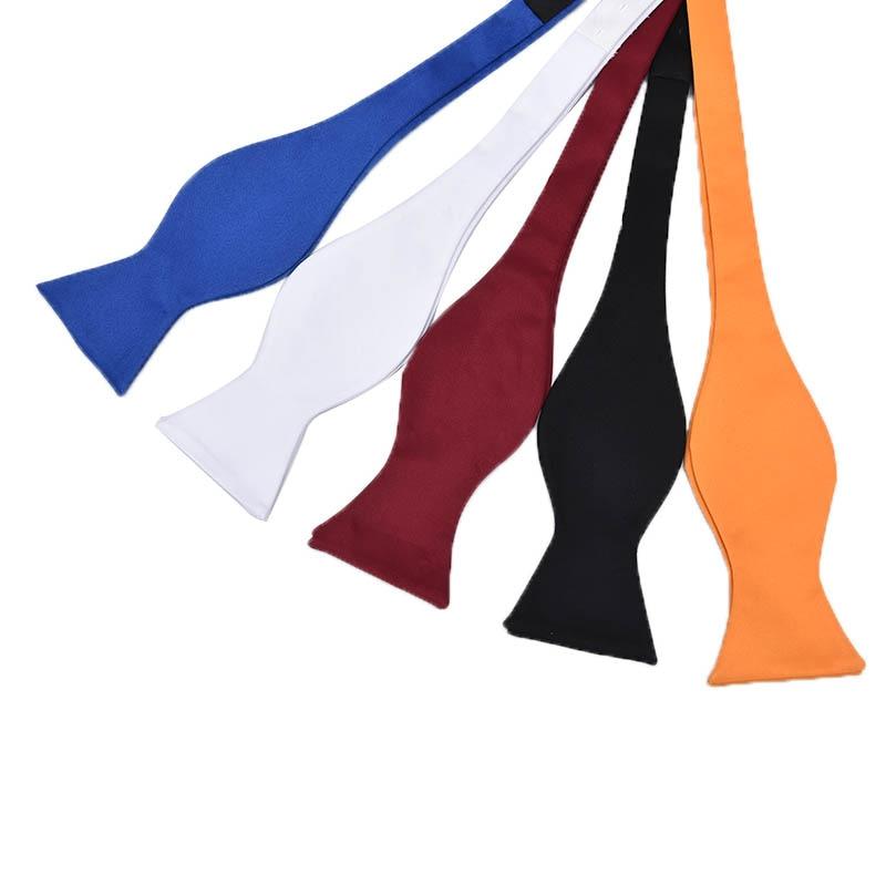 Men's Self Bow Tie Fashion Solid Color Bowtie Adjustable Business Wedding Self Tie Bowtie For Men Accessories Multicolor