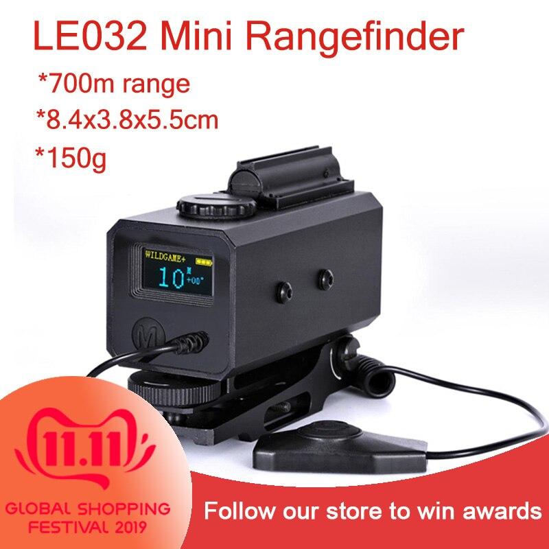 LE032 Mini Range Finder for Night Hunting Opitcal Laser Designator Rangefinder 150g Weight Wild Game Sight Rangefinders     - title=