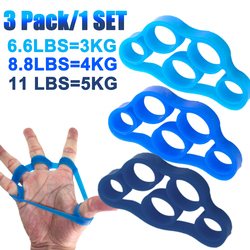 3/6Pcs Portable Finger Gripper Strength Trainer Resistance Band Silicone Hand Grip Wrist Yoga Stretcher Finger Trainer Exercise