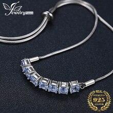 JPalace Created Spinel 925 Sterling Silver Bracelet Bolo Chain Gemstones Bracelets For Women Jewelry Making Organizer