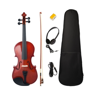 Naomi Full Size 4/4 Violin/Fiddle Student Violin Basswood Violin Kit +Bridge+Rosin+Case+Bow Natural Color for Beginner