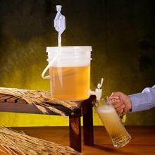 دلو بلاستيكي منزلي لتخمير النبيذ مانعة للتسرب حاوية تخمير البيرة BPA الحرة 5L 10L