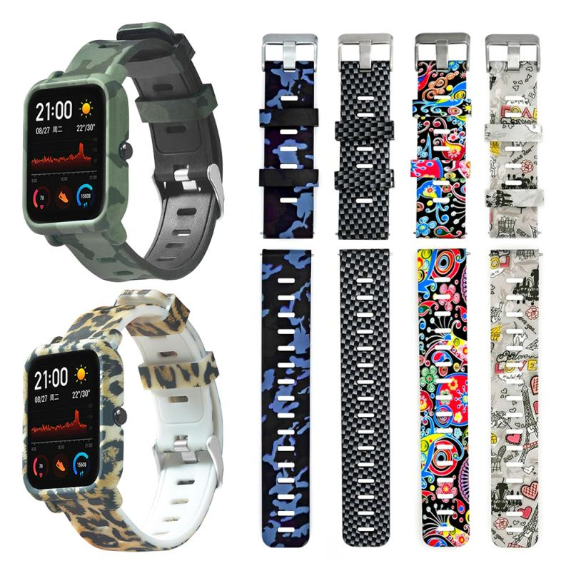 PC Watch Case Cover Shell Frame Protector 2 In 1 Strap Watch Band Protector For Huami Amazfit GTS Accessories For Amazfit GTS