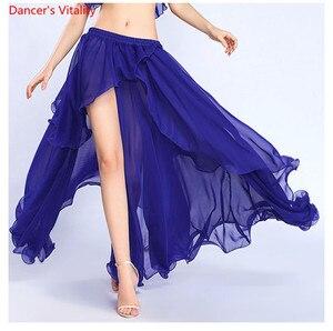 Image 2 - Profesional de la competencia Sexy gasa para las mujeres danza del vientre falda Maxi traje Dancer Dress11 Color; Envío gratis