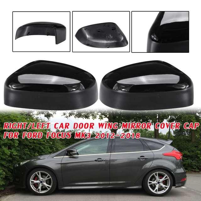 Capuchon de protection de rétroviseur pour porte de voiture | Noir brillant droit/gauche, pour Ford Focus MK3 2012 2013 2014 2015 2016 2017 2018