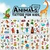 Cute Tortoise Giraffe Design Water Transfer Waterproof Temporary Tattoos Stickers For Kids Girl Children Gift Fake Tattoo