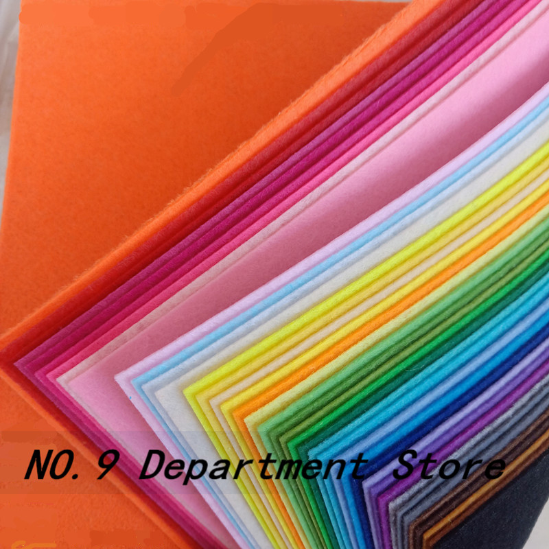 40pcs 30x30/30x20/15x15/15x10cm DIY Colorful Fabric Cloth 1mm Polyester Cloth Felts Home Sewing Wedding Decoration Dolls &Craft