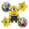 5 шт. Зонт с миньонами, воздушные шары, трусы с рисунком обезьяны Фольга шары с днем рождения Baby Shower игры вечерние украшения для детей, для дев...