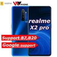 Realme X2 pro X 2 téléphone mobile Snapdragon 855 plus 64MP Quad caméra 6.5 ''plein écran NFC OPPO téléphone portable VOOC 50W super chargeur