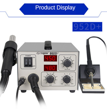 600W Digital Display Desoldering Station Air Gun  Iron Electric Soldering Adjustable Chip Magnetic sleep Yaogong 952D+