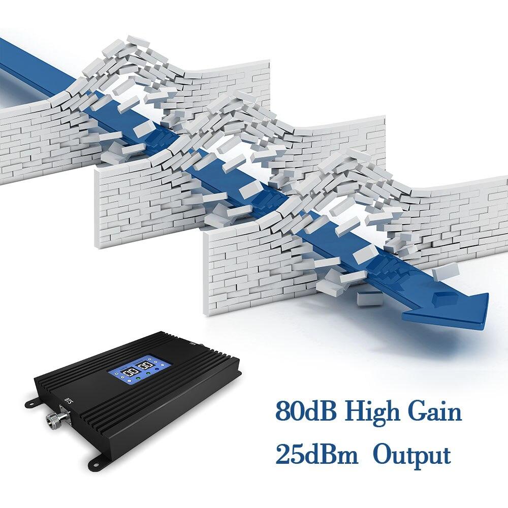 Lintratek 80db o wysokiej mocy potężny UMTS 850mhz sztuk 1900mhz wzmacniacz sygnału AGC MGC 2G 3G wzmacniacz sygnału telefonu komórkowego *