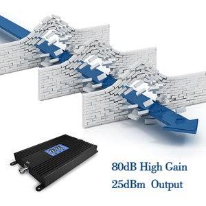 Image 3 - Lintratek 80db Alto Ganho GSM Poderoso 4G LTE Sinal De Reforço 900Mhz 1800mhz 25dBm Repearer Celular Telefone Celular com AGC e MGC *