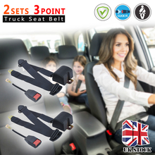 2 Sets Universal 3 Point Car Truck Seat Lap Belt Adjustable Car Auto Safety Seat Belt Seatbelt Extension Extender Buckle 2 universal vehicle racing 4 point auto car safety seat belt buckle harness car quick release seat belt accessories