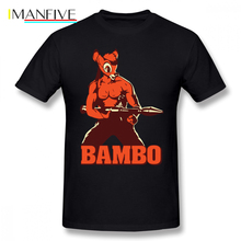 Rambo T Shirt Bambo T-Shirt Beach Male Tee Plus size 100 Cotton Printed Cute Short Sleeve Tshirt