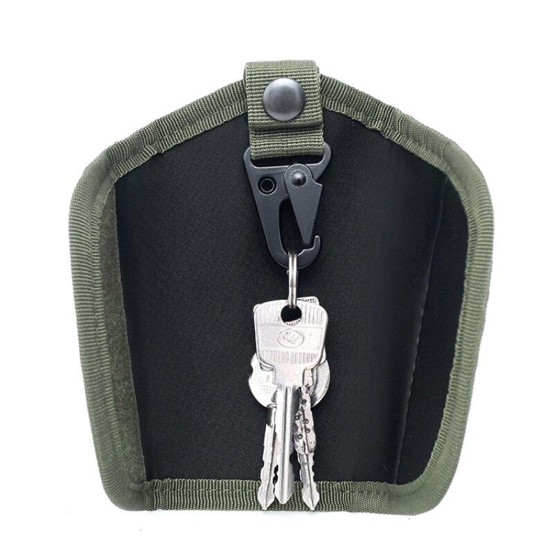 600D Outdoor Molle Key Pouch Belt Pouch Waterproof Nylon Men EDC Pouch Key Holder Carabiner Keychain Case