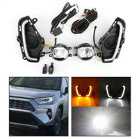 Areyourshop For Toyota RAV4 2019 2020 1 Pair LED DRL Driving Lamp Fog Light Wiring Switch Kit Fog Lamps Car Accessories
