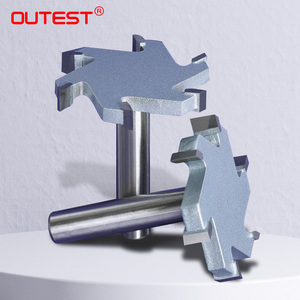 Image 1 - 1 / 2 inch 4T oder 6T holzbearbeitung router bit hartmetall T typ cutter holz carving werkzeuge holzbearbeitung werkzeuge messer