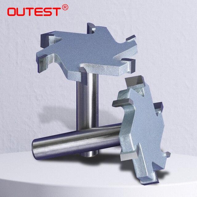 1 / 2 inch 4T oder 6T holzbearbeitung router bit hartmetall T typ cutter holz carving werkzeuge holzbearbeitung werkzeuge messer