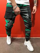 Mens Camouflage Cargo Pants Sports Designer Pantalones Hombres Fashion Big Pocket