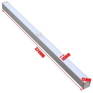 Image 5 - Mayitr 20 ledワイヤレスキャビネット夜の光赤外線モーションセンサーナイトライト緊急ワードローブクローゼットナイトランプライト