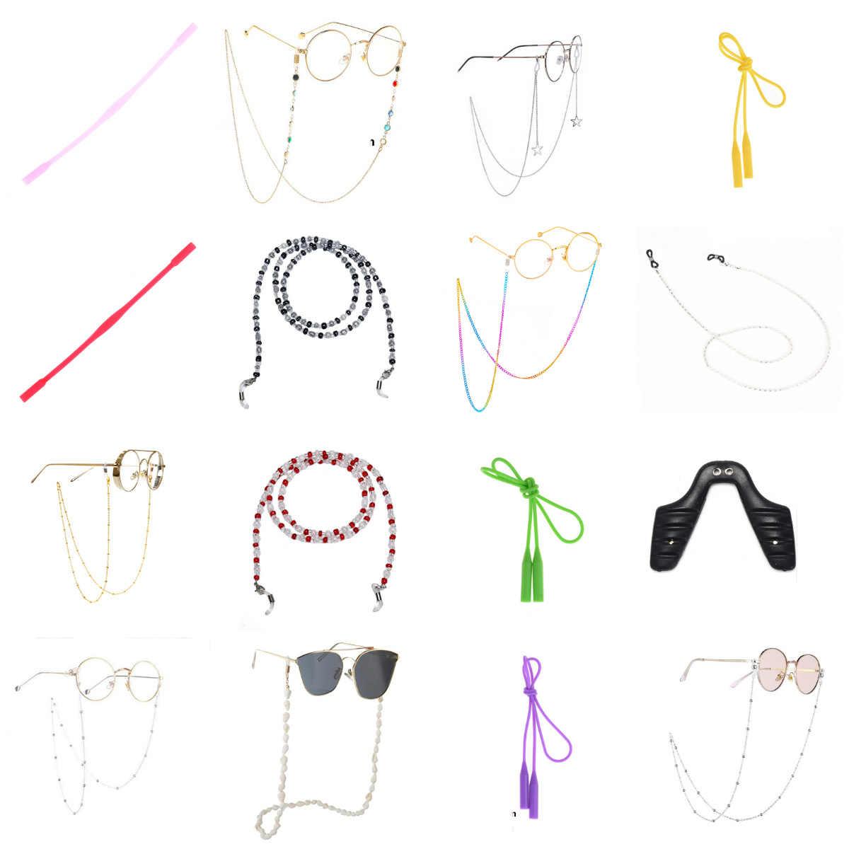 メガネチェーン模擬パールミニビーズストラップノンスリップネックレス装飾文字列ロープストラップコードファッション老眼鏡用
