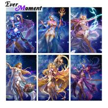 Diamond Painting Ever Moment Decoration Girl by Full Square Resin 3F2550 Wall-Art Cartoon
