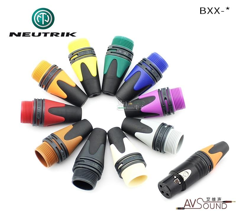 1pcs/10pcs BXX NEUTRIK Color XLR Plug Tail Sleeve Left And Right Channel Color Identification For NC**XX NC3FXX NC3MXX