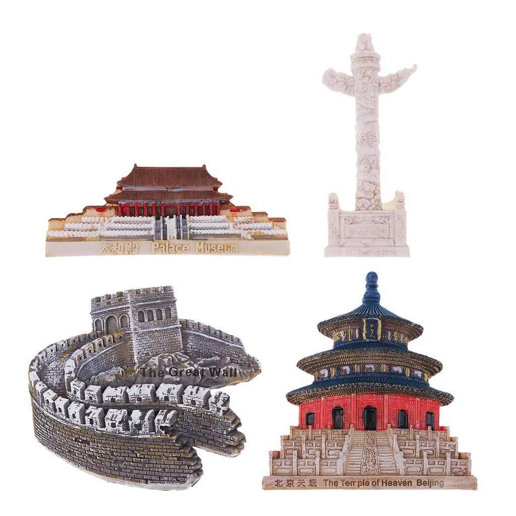 3D Resin Fridge Magnet Tourist Travel Souvenir Memorabilia China Beijing