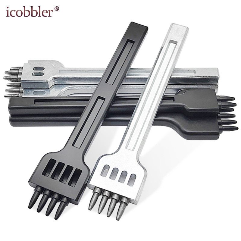 2019 New Die Leather Cutting Stitch For Wallet Belt Round Punch DIY Stitching Chisel Set Craft Kit 4mm Hole Spacing 1mm Diameter