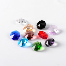 Glass Crystal Beads Chandelier-Prism-Beads Garland-Accessories Octagon 14mm for Strand