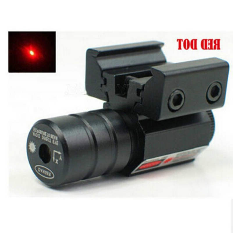 US Warehouse Red Dot Laser Sight With 50-100 Meters Range 635-655nm For Pistol Adjustable 11mm 20mm Picatinny Rail