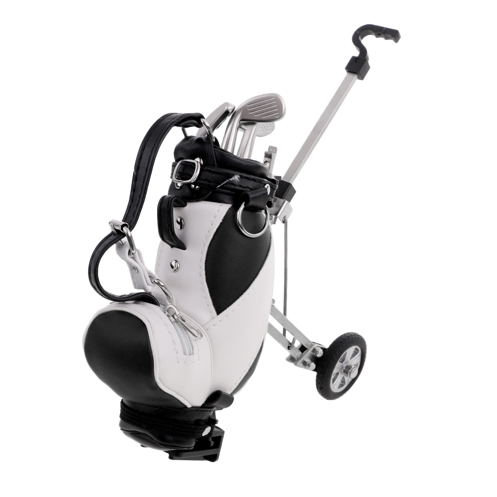 Holder Shape Mini Golf Cart Gifts For Golfer Office Table Decoration