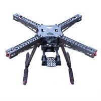 TZT X450 450mm Full Carbon Fiber Drone Frame Kit w/ Carbon Fiber Landing Gear for F450 S500 S550